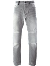 байкерские джинсы Marcelo Burlon County Of Milan
