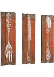"""Декор для стен """"Столовые приборы"""", 3 части Heine Home"""