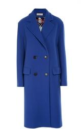 Двубортное пальто прямого кроя Emilio Pucci
