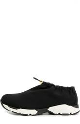 Текстильные кроссовки на контрастной подошве Marni