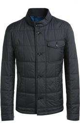 Стеганая куртка с накладным нагрудным карманом HUGO BOSS Black Label