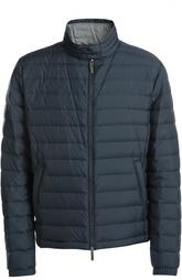 Стеганая куртка на молнии с воротником-стойкой HUGO BOSS Black Label