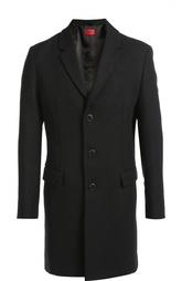 Шерстяное однобортное пальто Hugo