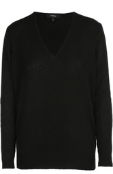 Кашемировый пуловер свободного кроя с V-образным вырезом Theory