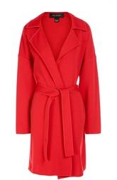 Пальто со спущенным рукавом и поясом St. John
