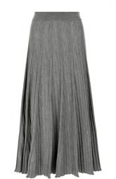 Плиссированная вязаная юбка-миди Chloé