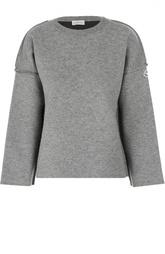 Пуловер свободного кроя со спущенным рукавом и логотипом бренда Moncler