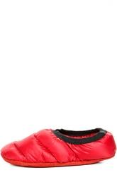 Стеганые домашние туфли с нашивкой Moncler Enfant