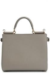 Кожаная сумка Sicily с зеркалом Dolce & Gabbana
