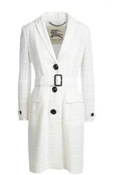 Кружевное пальто прямого кроя с поясом Burberry