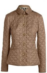 Стеганая куртка на заклепках с отложным воротником Burberry Brit