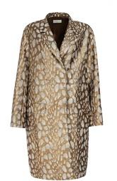 Пальто прямого кроя с металлизированной отделкой Dries Van Noten