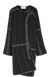 Вязаное пальто прямого кроя с круглым вырезом Chloé