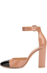 Лаковые туфли Greta на устойчивом каблуке Gianvito Rossi