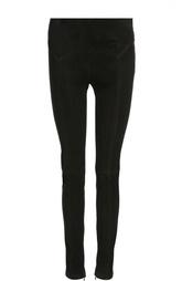 Замшевые брюки-скинни с фактурной отделкой Tom Ford