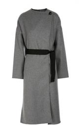 Пальто прямого кроя со спущенным рукавом и поясом Isabel Marant