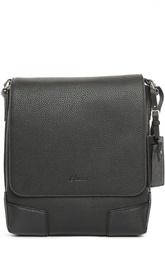 Кожаная сумка-планшет с логотипом бренда Brioni