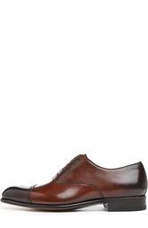 Кожаные оксфорды с патинированием Tom Ford