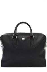 Кожаная сумка для ноутбука с логотипом бренда Brioni
