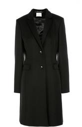 Приталенное шерстяное пальто с карманами HUGO BOSS Black Label