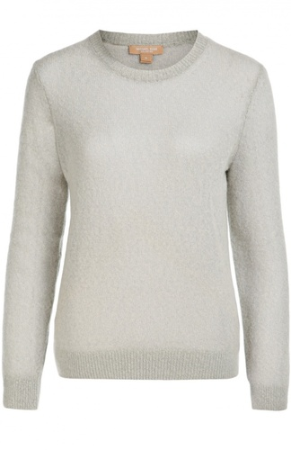 Кашемировый полупрозрачный пуловер с круглым вырезом Michael Kors