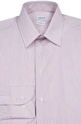 Хлопковая сорочка в мелкую полоску Armani Collezioni