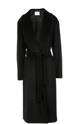 Шерстяное пальто с широкими лацканами и поясом HUGO BOSS Black Label