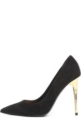 Замшевые туфли Metal Heel на шпильке Tom Ford