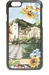 Кожаный чехол для iPhone 6 с принтом Dolce & Gabbana