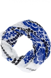 Шелковый платок с цветочным принтом Alexander McQueen