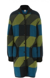 Шерстяное пальто с принтом M Missoni