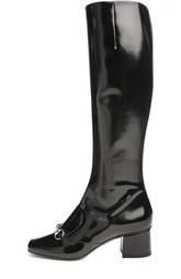 Лаковые сапоги Lilian с пряжкой Gucci