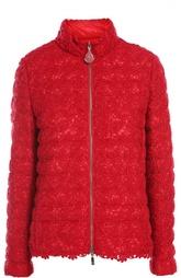 Стеганая куртка с отделкой кружевом Moncler