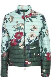 Стеганая куртка с цветочным принтом Moncler