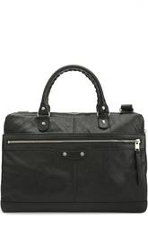 Кожаная сумка для ноутбука с плечевым ремнем Balenciaga