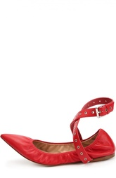 Кожаные балетки Love Latch с ремешками Valentino