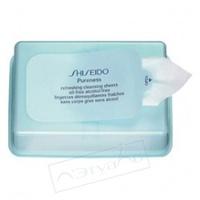 SHISEIDO Освежающие очищающие салфетки без содержания масел и спирта Pureness 30 шт.