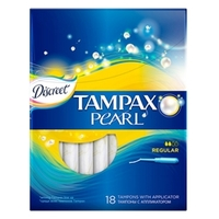TAMPAX Discreet Pearl Тампоны женские гигиенические с аппликатором Regular Duo 18 шт.