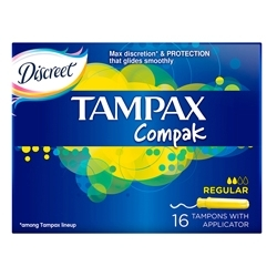 TAMPAX Compak Тампоны женские гигиенические с аппликатором Regular Duo 16 шт.