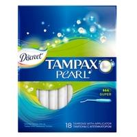 TAMPAX Discreet Pearl Тампоны женские гигиенические с аппликатором Super Duo 18 шт.