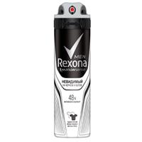 REXONA Антиперспирант-аэрозоль для мужчин Невидимый на черном и белом 150 мл