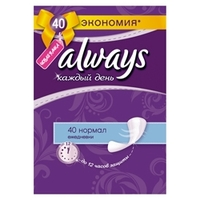 ALWAYS Ежедневные гигиенические прокладки на каждый день Нормал Duo 40 шт.