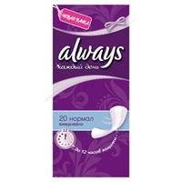 ALWAYS Женские гигиенические прокладки на каждый день Normal Single 20 шт.