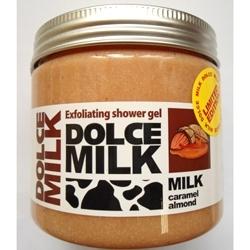 DOLCE MILK Гель-скраб для душа Молоко и миндаль в хрустящей карамели 400 мл