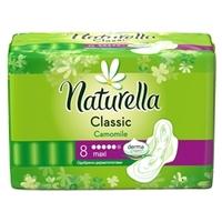 NATURELLA Classic Женские гигиенические прокладки ароматизированные с крылышками Camomile Maxi Single 8 шт.