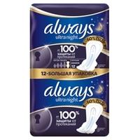 ALWAYS Ultra Женские гигиенические прокладки ароматизированные Night экстра защита Duo 12 шт.