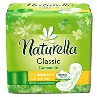 NATURELLA Classic Женские гигиенические прокладки без крылышек Camomile Normal Single 12 шт.