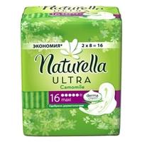 NATURELLA Ultra Женские гигиенические прокладки ароматизированные Camomile Maxi Duo 16 шт.