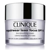 CLINIQUE Дневной разглаживающий крем с SPF 15 Repairwear Laser Focus для сухой и комбинированной кожи, склонной к сухости 50 мл