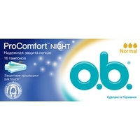 O.B. Тампоны ProComfort Night Normal 16 шт.